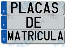 Placas de Matriculas Europeas  PLACAS DE MATRICULAS